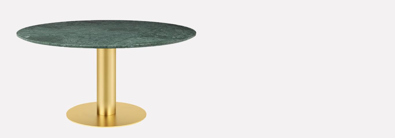 GUBI ROUND TABLE 150CM MARBRE VERT 1370*480 G