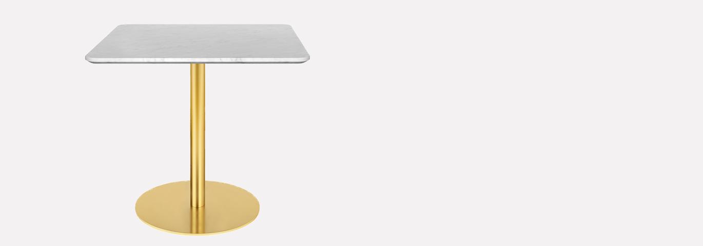 GUBI SQUARE TABLE MARBRE BLC 80CM 1370*480 G